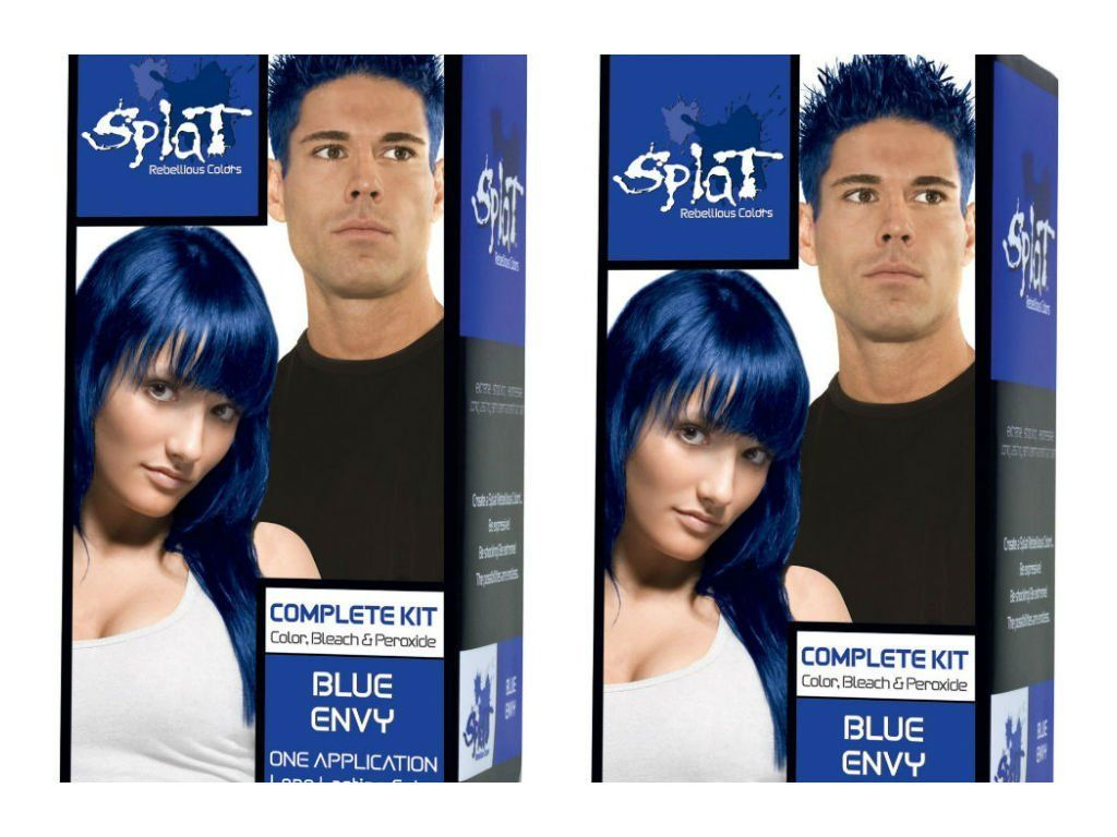 Splat Rebellious Colors Hair Coloring Kit Blue Envy Set Of 2 Check Out The Image By Visiting The Link Splat Hair Color Hair Color Hair Color Reviews