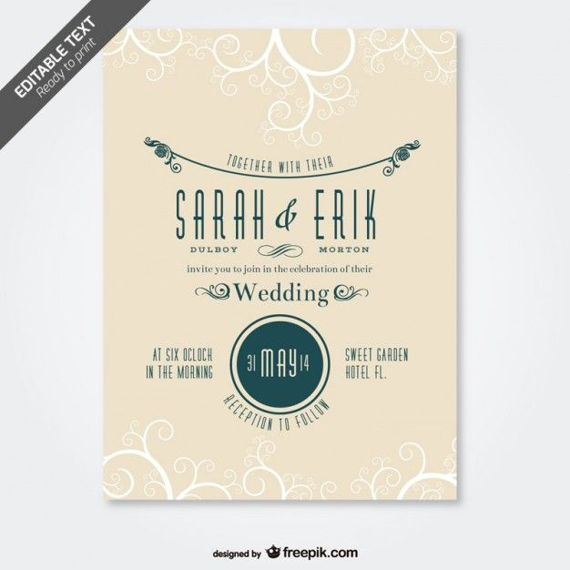 Pin by daniella macari s on free vector pinterest template swirl design retro weddings card designs bridal wedding invitation templates wedding invitations wedding vintage wedding cards vintage cards stopboris Image collections