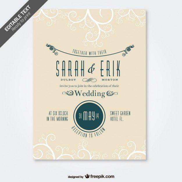 Invitaciones De Boda GRATIS Descarga Estas Plantillas Wedding Invitation TemplatesWedding InvitationsCard DesignsWedding