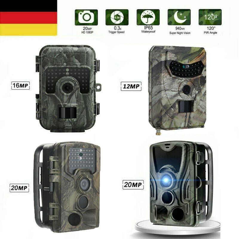 2G 3G Wildkamera Jagdkamera Fotofalle 16MP 1080P HD Überwachungskamera Nachtsich