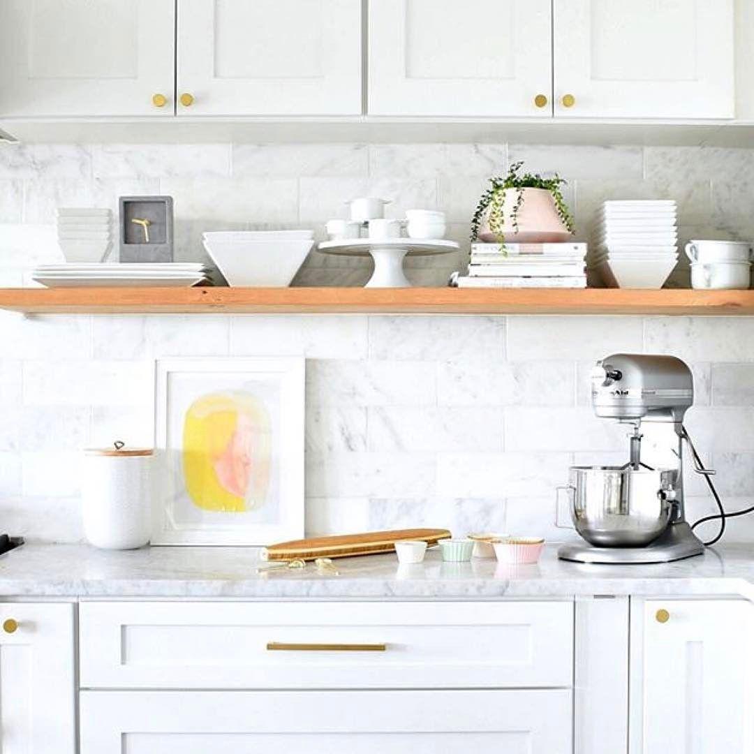 Open kitchen shelf | Home | Pinterest | Kitchen shelves, Open ...