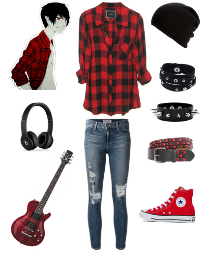 marshall lee punk boy outfit emo scene gothic