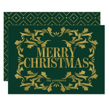 Elegant Ornate Gold Merry Christmas Card Holiday Card Diy Personalize Design Template Cyo Car Merry Christmas Card Christmas Card Invitation Holiday Card Diy