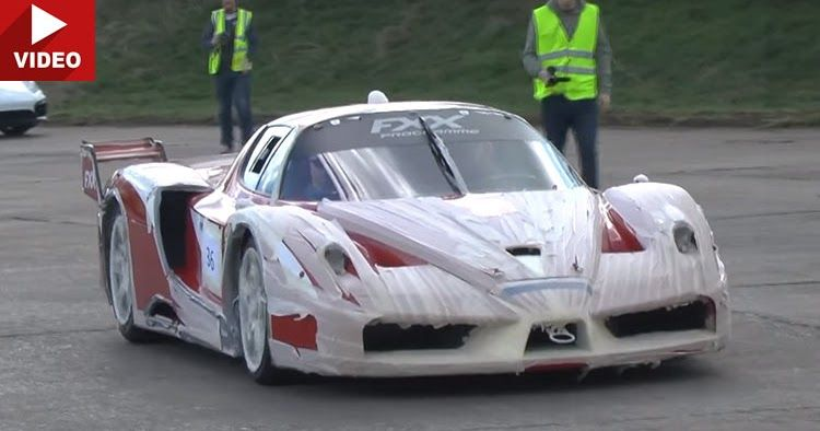 This Ferrari FXX Looks Silly, But Sounds Incredible #ferrarifxx