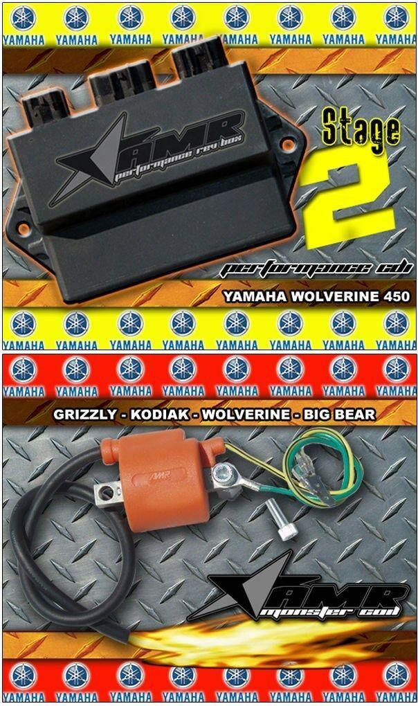 Yamaha WOLVERINE 450 CDI Ignition Monster Coil+REV BOX