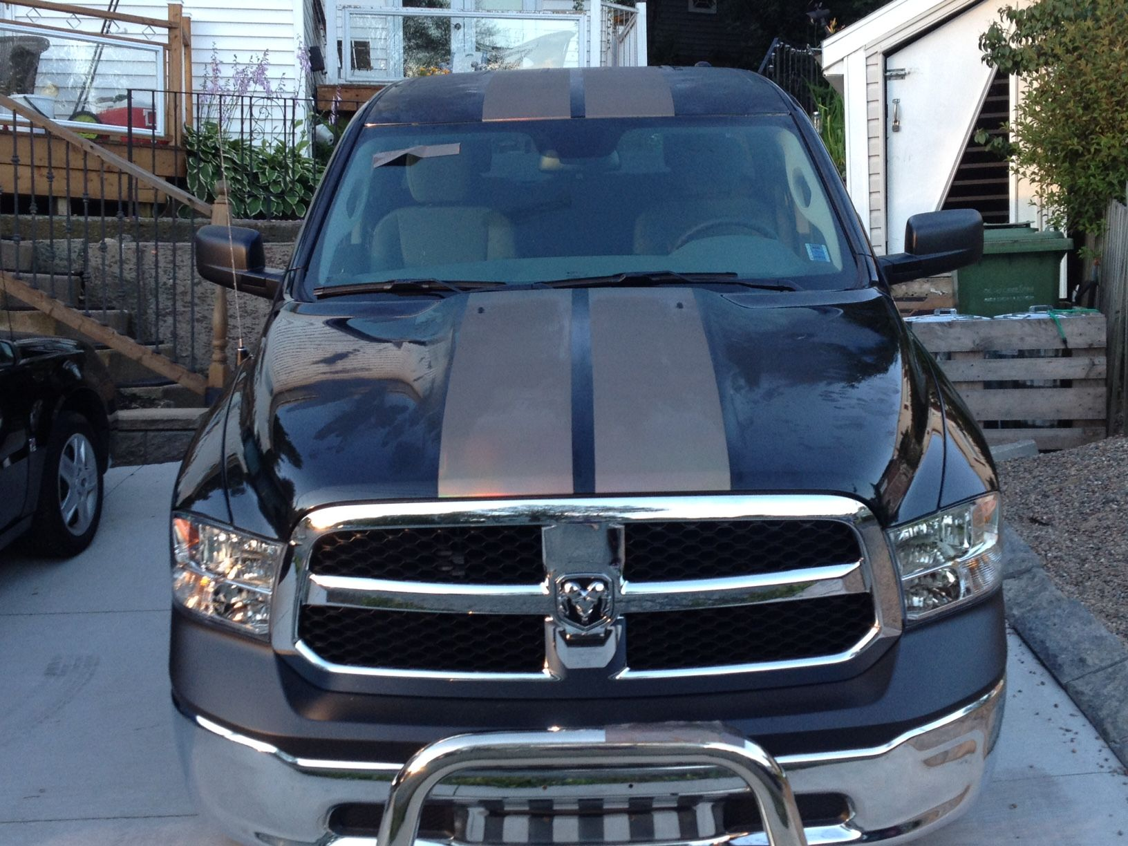 2016 dodge ram 1500 with concept black holographic custom made ralley stripes vinyl from vvivid. Black Bedroom Furniture Sets. Home Design Ideas