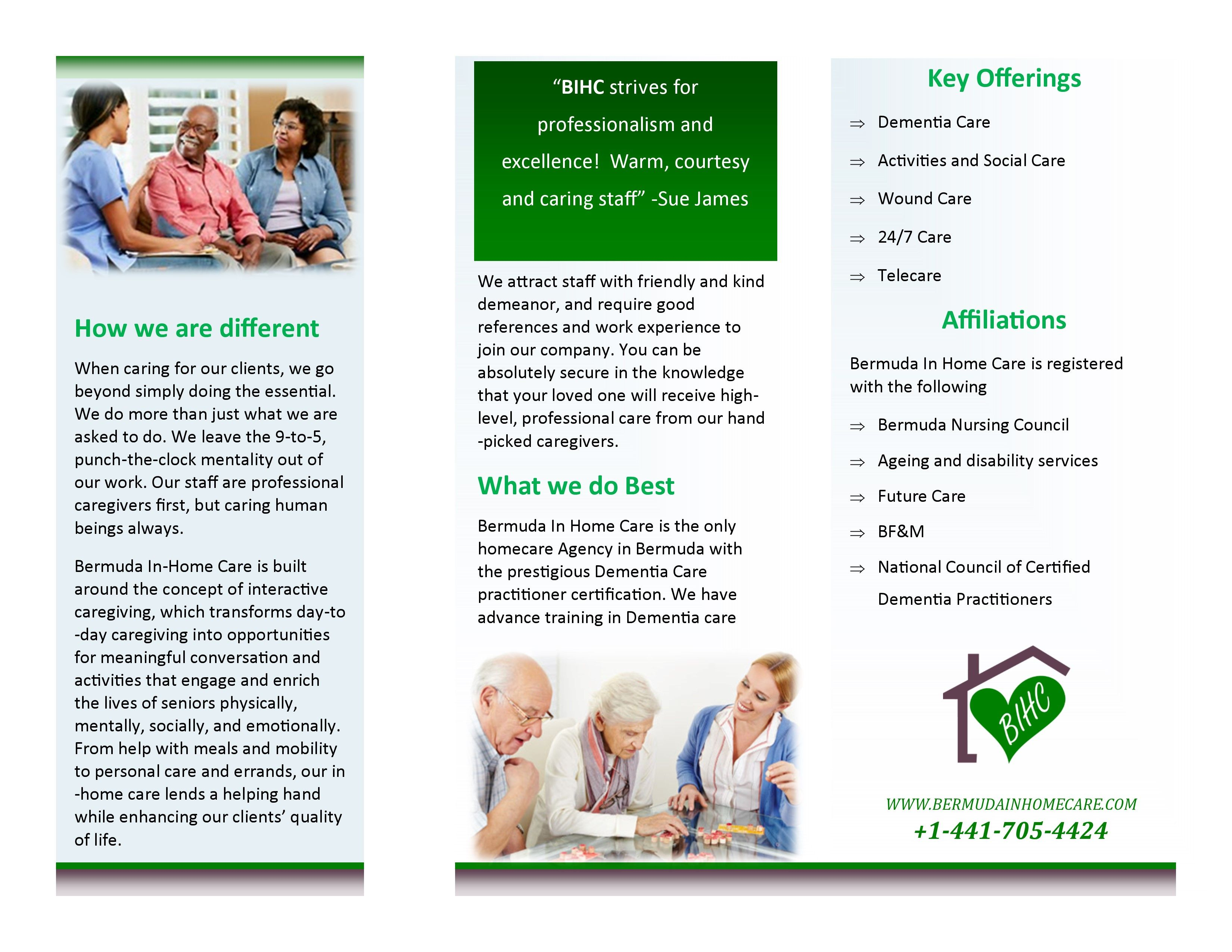 Brochure Back (With images) Home care agency, Senior