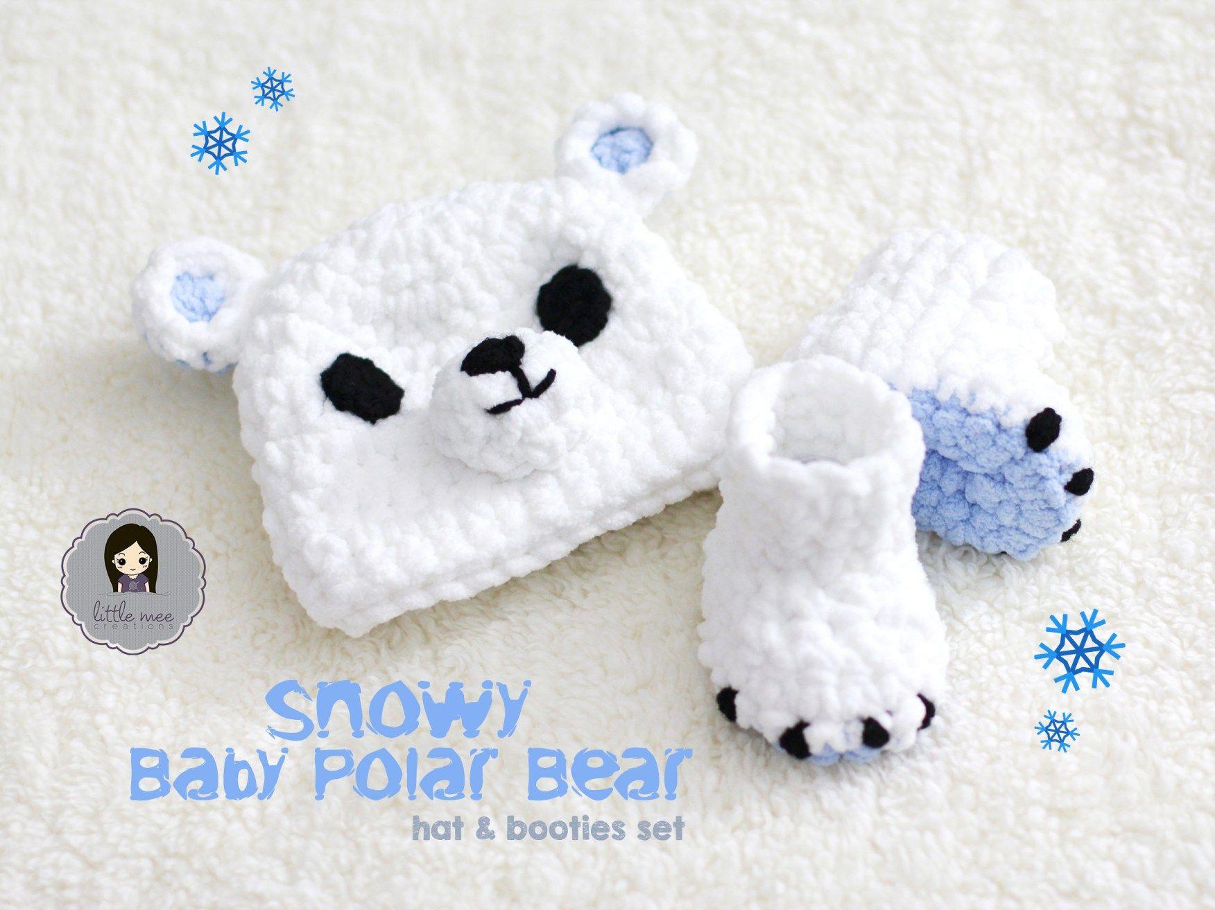 snowy baby polar bear crochet pattern by Little Mee Creations ...