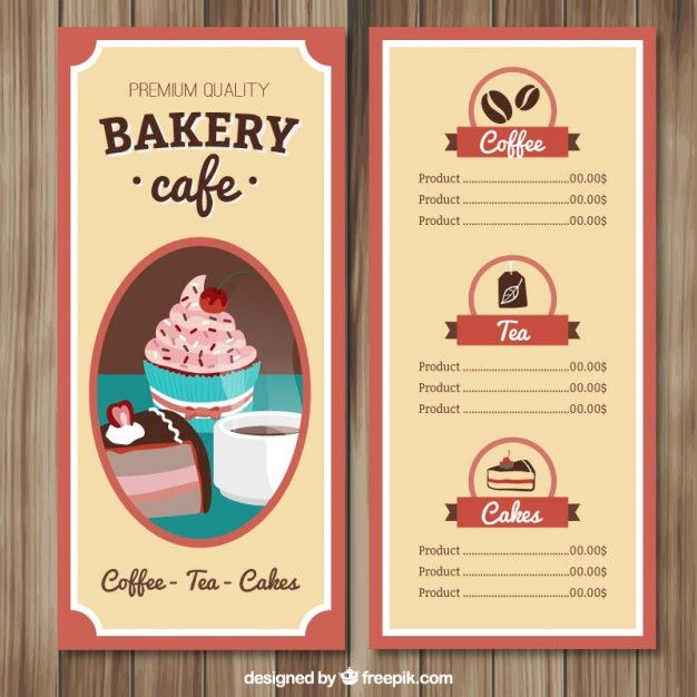 Download Hand Drawn Cafe Menu Template For Free Cafe Menu Menu Template Bakery Menu