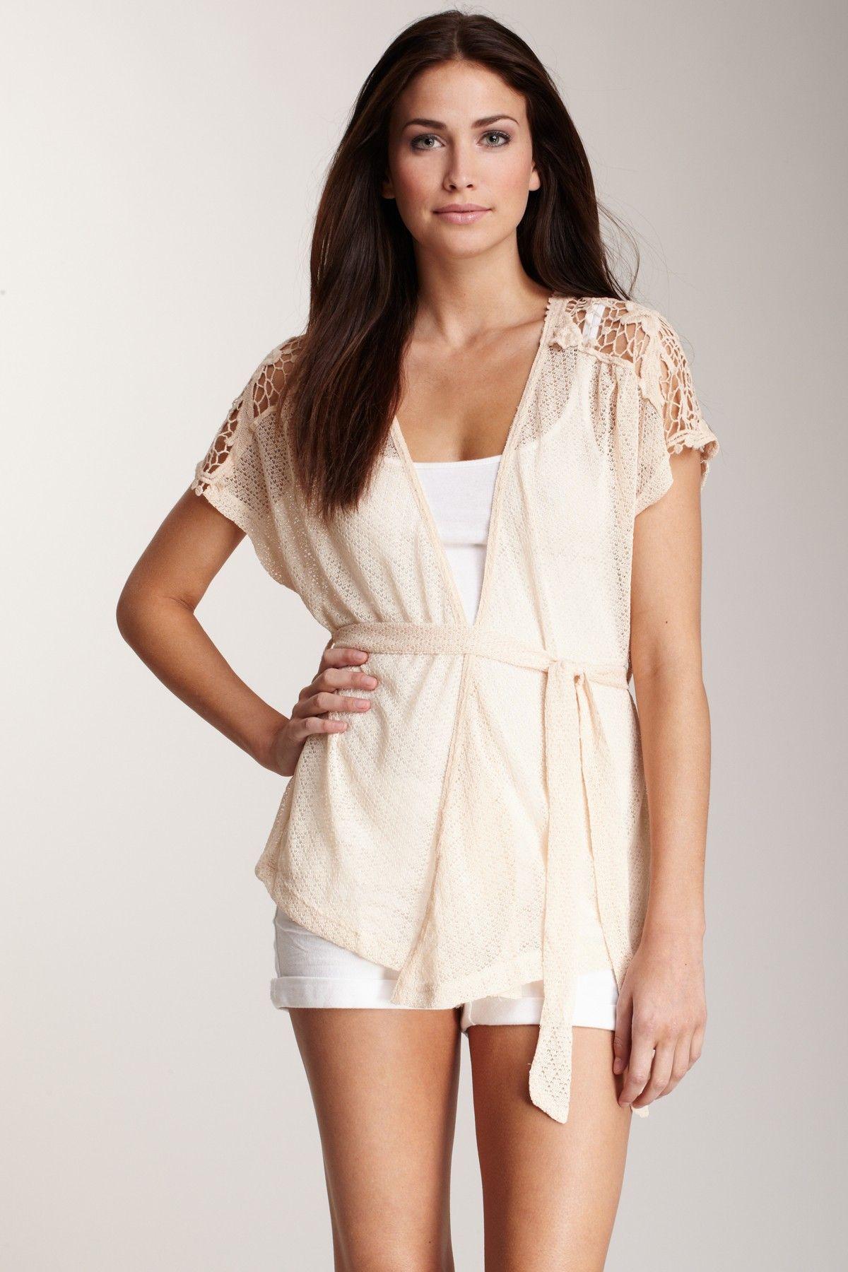 Lace Short Sleeve Cardigan | Outfit Ideas | Pinterest | Short ...
