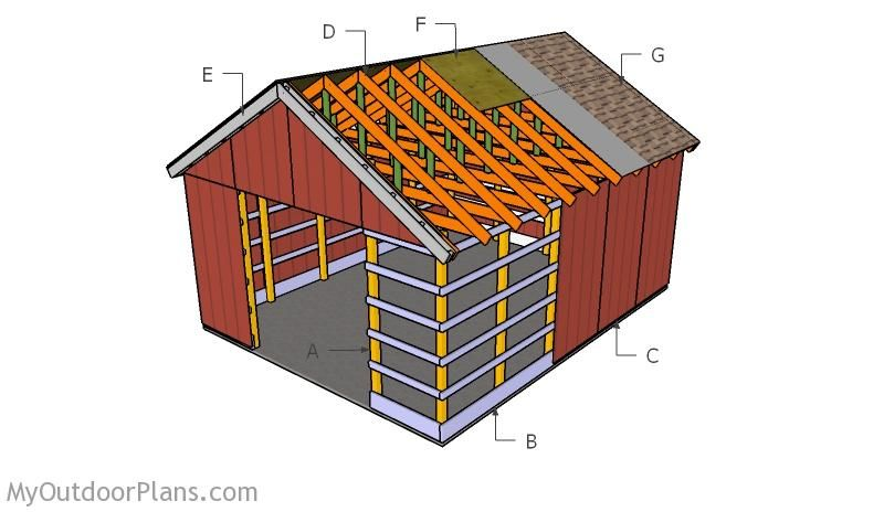 Free Pole Barn Plans Myoutdoorplans Free Woodworking Plans And Projects Diy Shed Wooden Playhouse Pergola Bbq Pole Barn Plans Diy Pole Barn Barn Plans