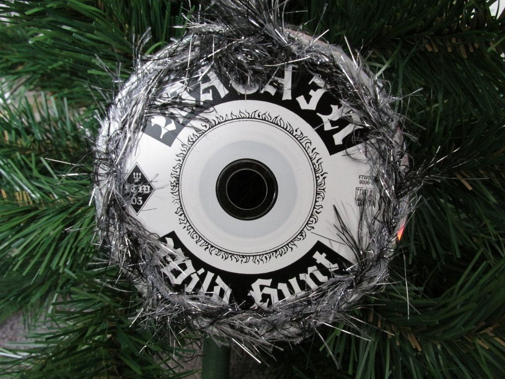 watain upcycled cd ornament black metal christmas by jinglehell on etsy