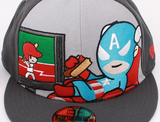 12f089bfb64 tokidoki-x-marvel-x-new-era-59fifty-fitted-caps  captain america ...