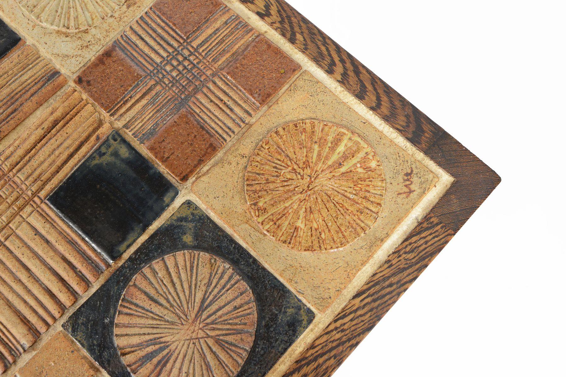 TUE POULSEN WENGE + CERAMIC TILE COFFEE TABLE - http://www.midcenturymobler.com/tue-poulsen-wenge-ceramic-tile-coffee-table/