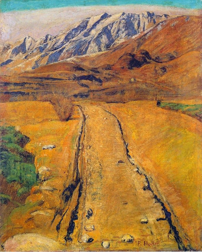Ferdinand Hodler - Symbolism - Switzerland - Yellow Landscape