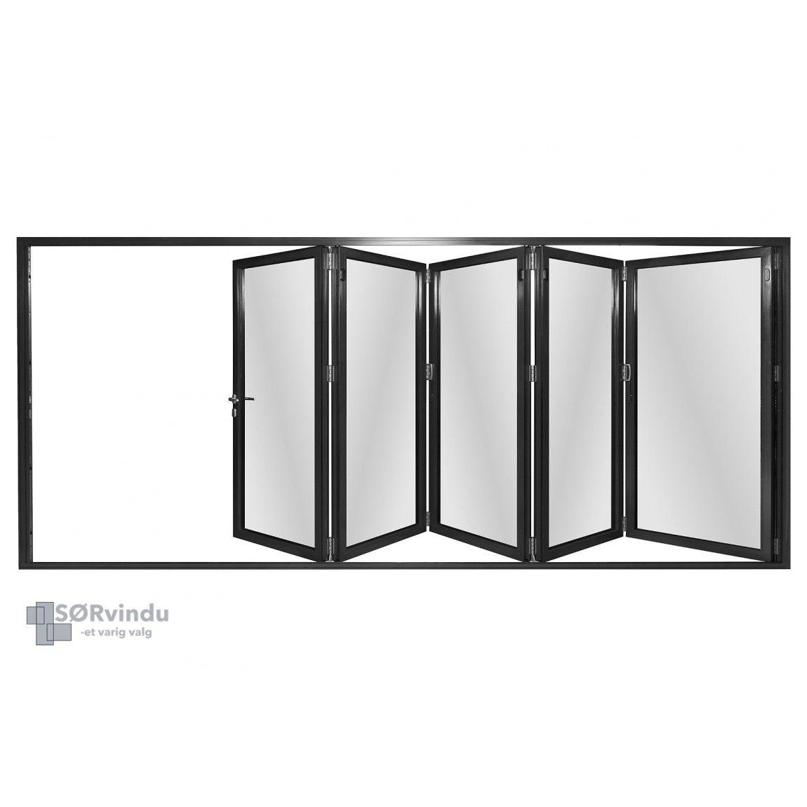 Aluminium Foldedør
