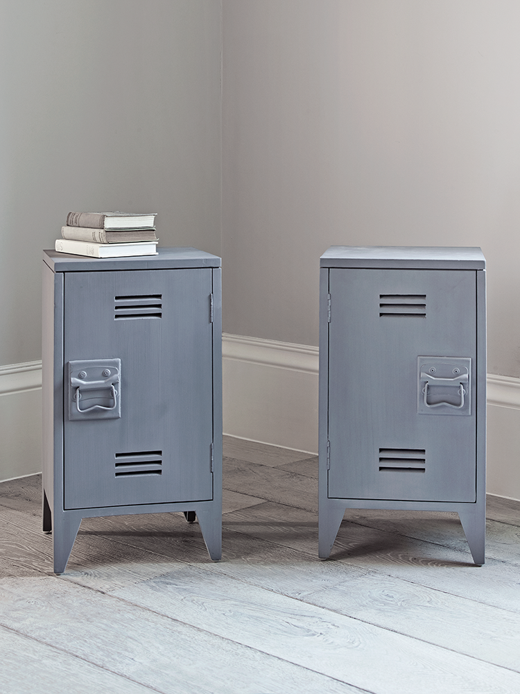 Locker Bedside Table: Inspired By Old Lockers, Our Pair Of Industrial Style