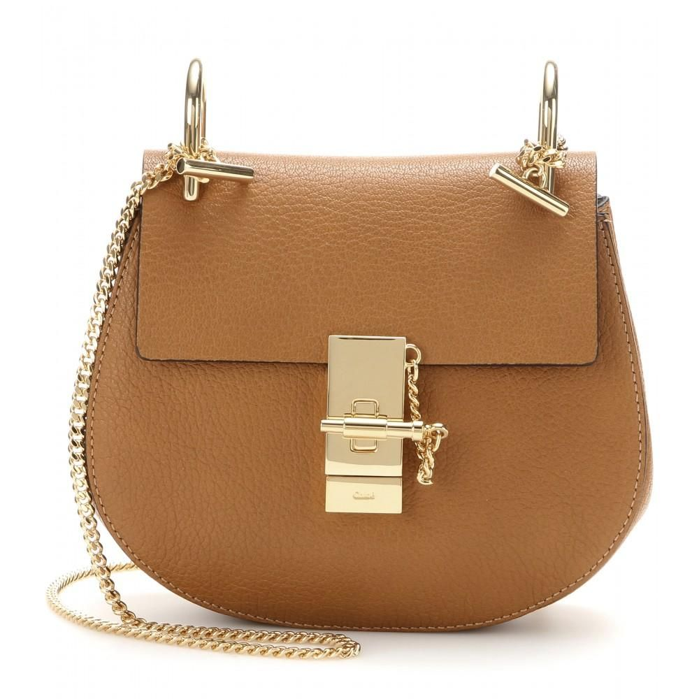 Chloé Brown Drew Small Leather Shoulder Bag