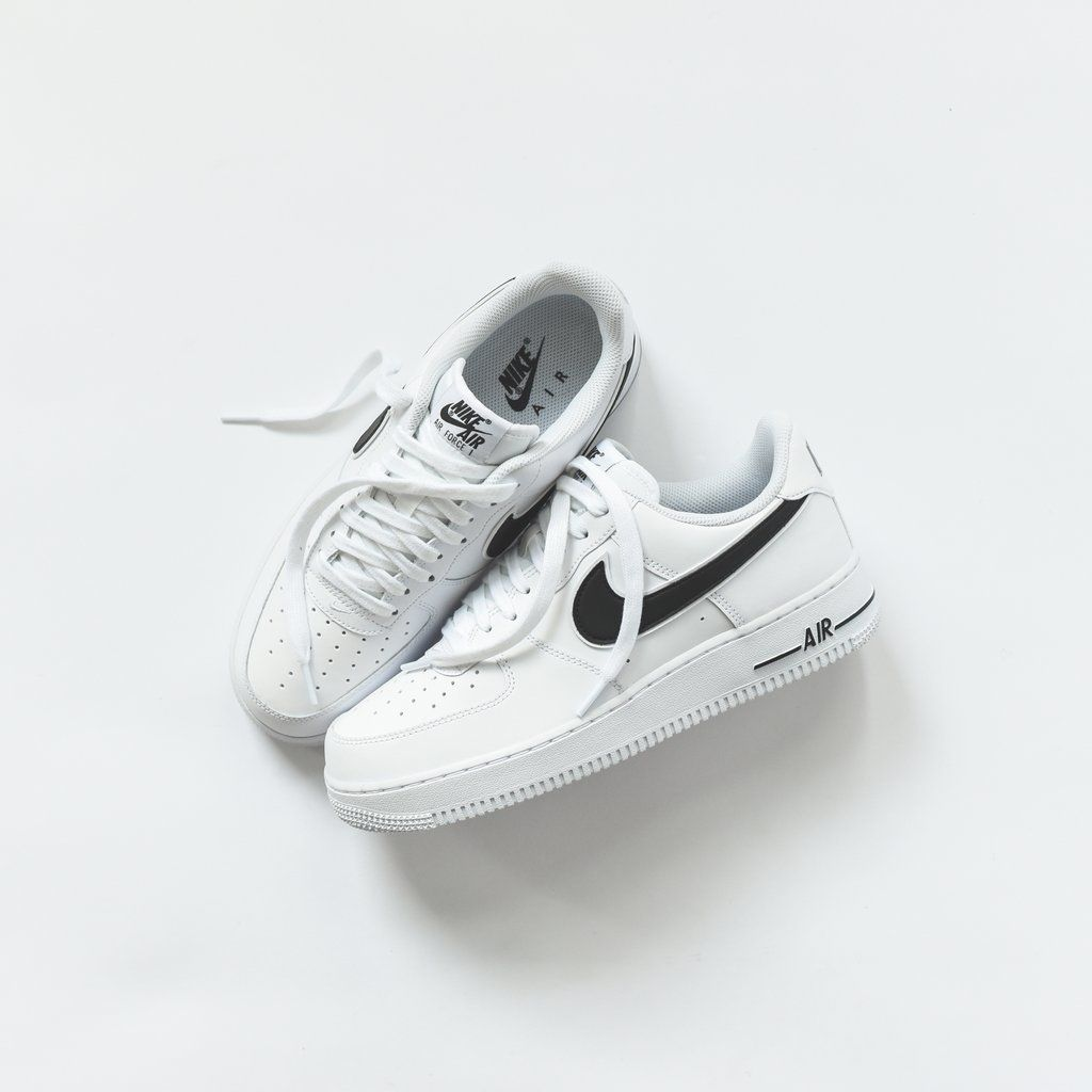 Air Force 1 07 03 Silhouette Leather Upper Perforated Toe Box Mesh Liner Double Layered Swoosh Flat Nike Air Force Black Nike Air Shoes Nike Air Force White