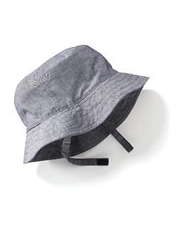 Chambray Bucket Hat for Baby  28422736dc3