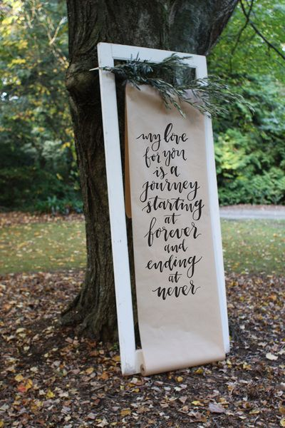 Wedding quotes/sayings on a rustic white door frame. Wedding signage ...