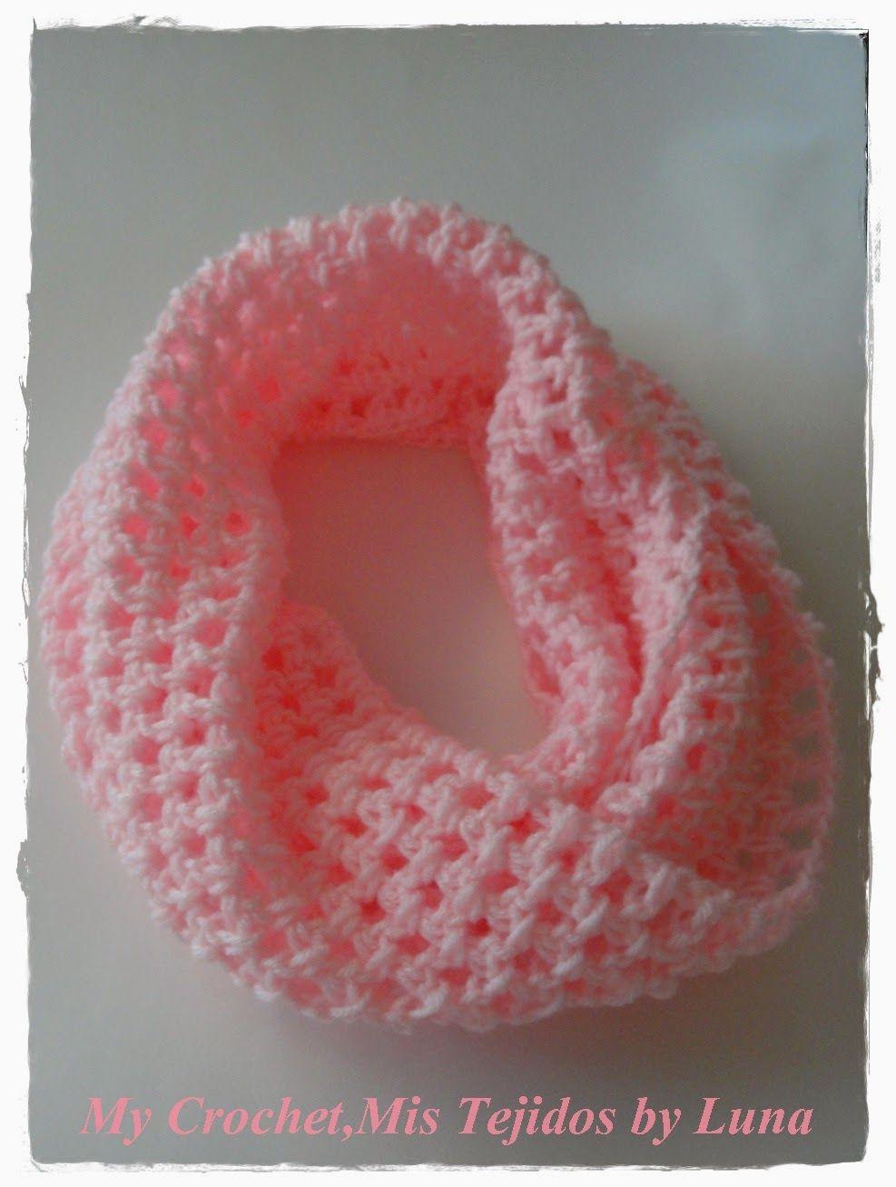 My Crochet , Mis Tejidos: Scarf / Bufanda # 2 ... pink | Gorros ...