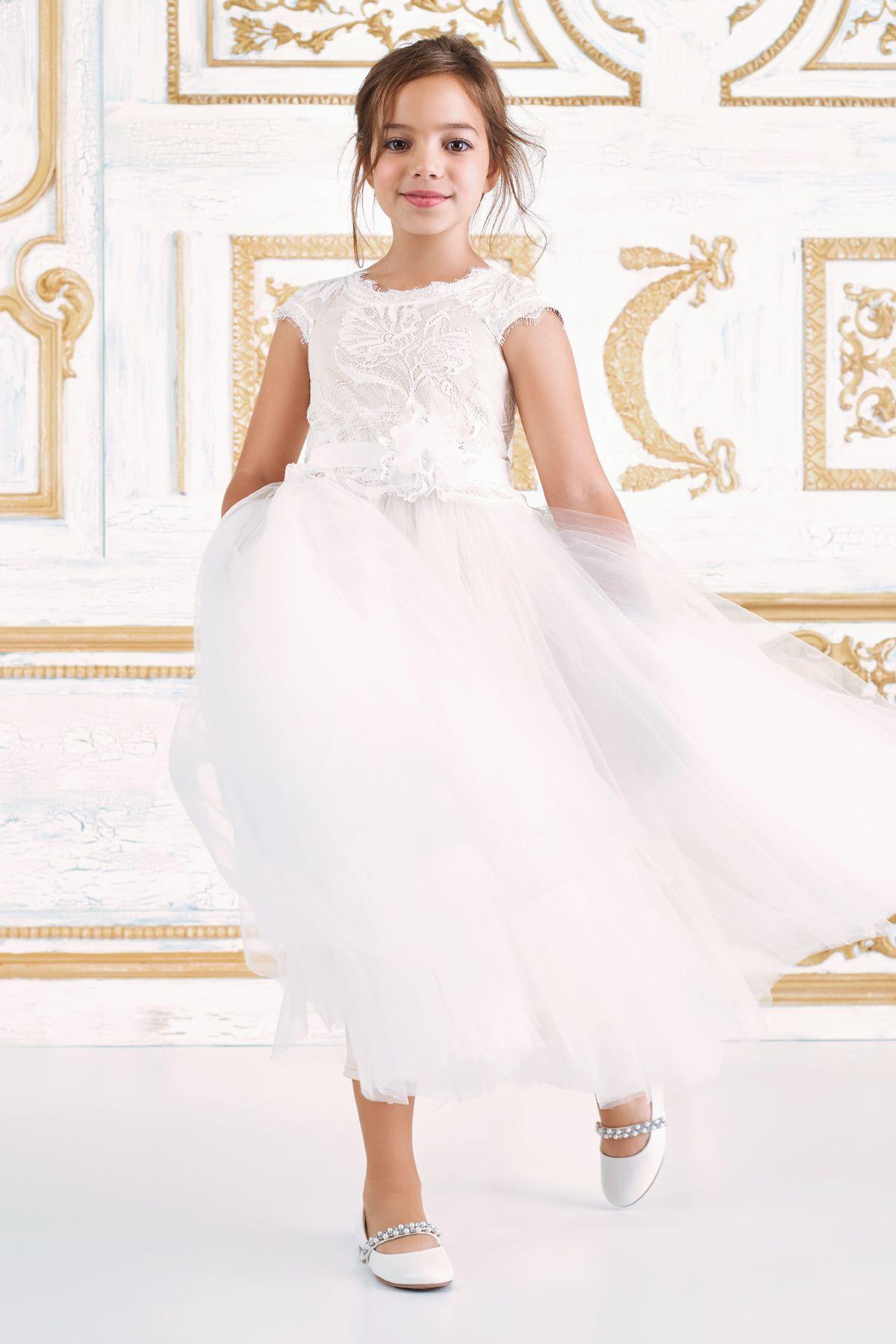 ac427bb0d797 Moira Tea-Length Dress l Tadashi Shoji | Flowergirl by Tadashi Shoji ...