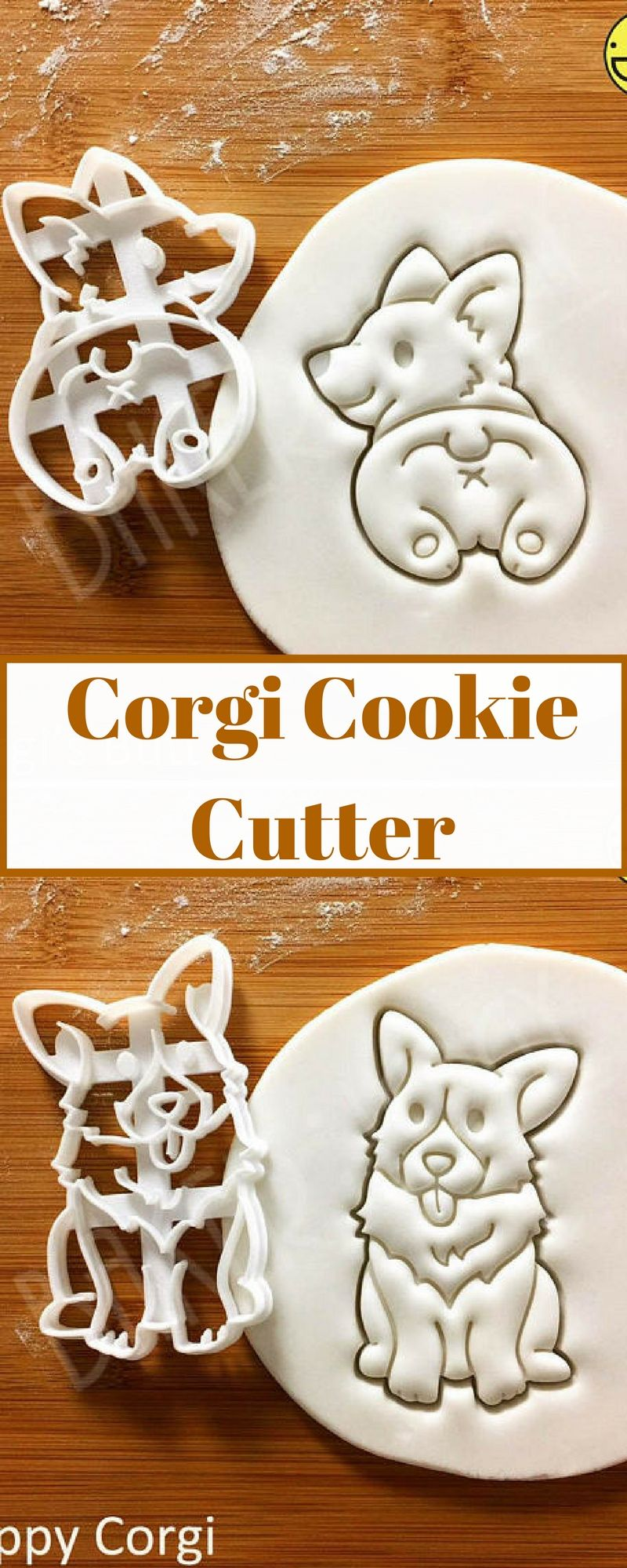 Selectable sizes Pembroke Welsh Corgi Dog Cookie Cutter
