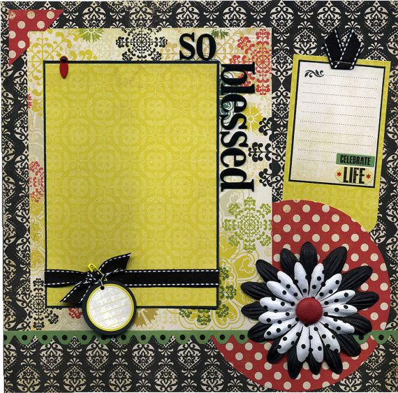 We are Blessed by His Love Scrapbook Page Kit