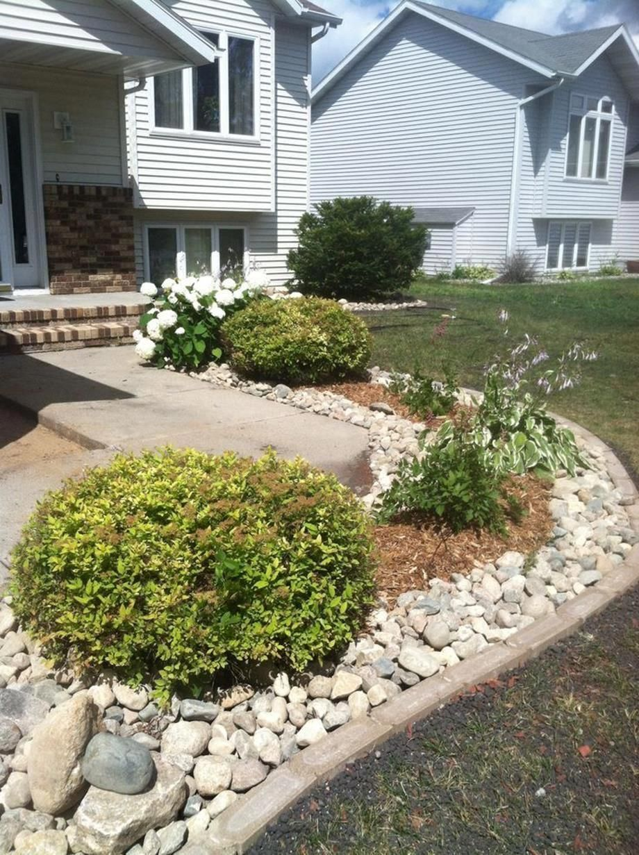 cheap landscaping ideas with rocks and mulch