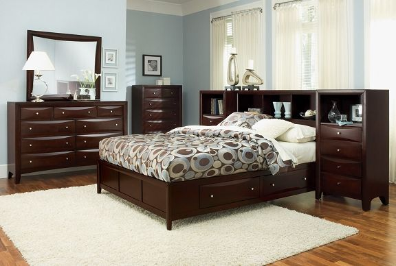 clarion bedroom collection value city furniture queen wall bed with piers 109999 - Pier Wall Bedroom Furniture