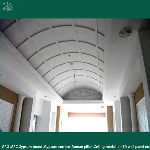 Mordern Latest Pop Royal Hall Roof Decoration GRG False Ceiling Flower Designs
