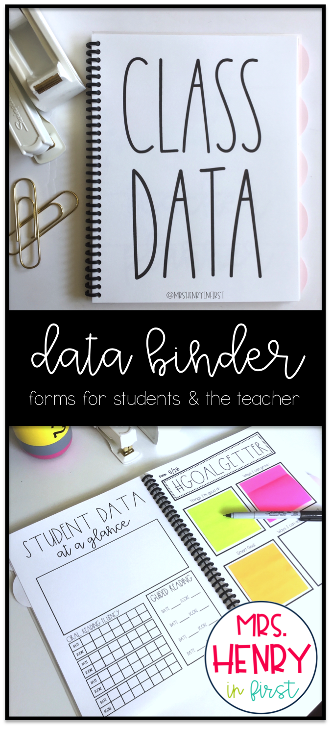Get Your Data Organized With These Student Teacher Data Forms And Graphs From Samantha Henry Mrshenr Student Data Binders Data Binders Student Teacher Binder