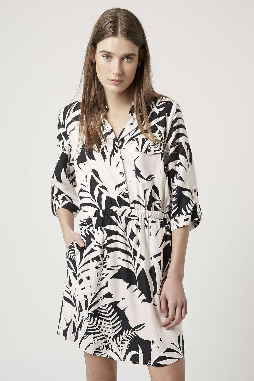 ea036e327de0 Shadow Leaf Print Shirt Dress | Tropicana | Nordstrom dresses, Tall ...