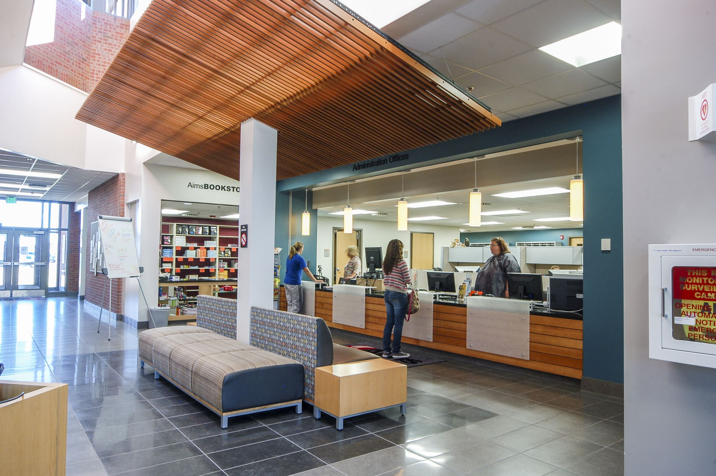 AIMS Community College Prairie Building Info desk Architecture