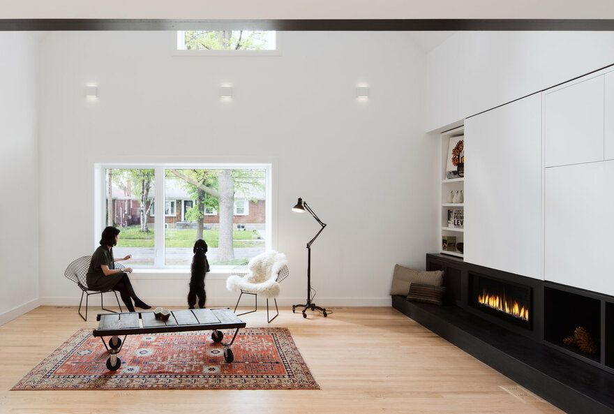 Peak A Boo House By Post Architecture Inc In Toronto Ontario Canada Modern Furniture Living Room Living Room Furniture Layout Open Space Living