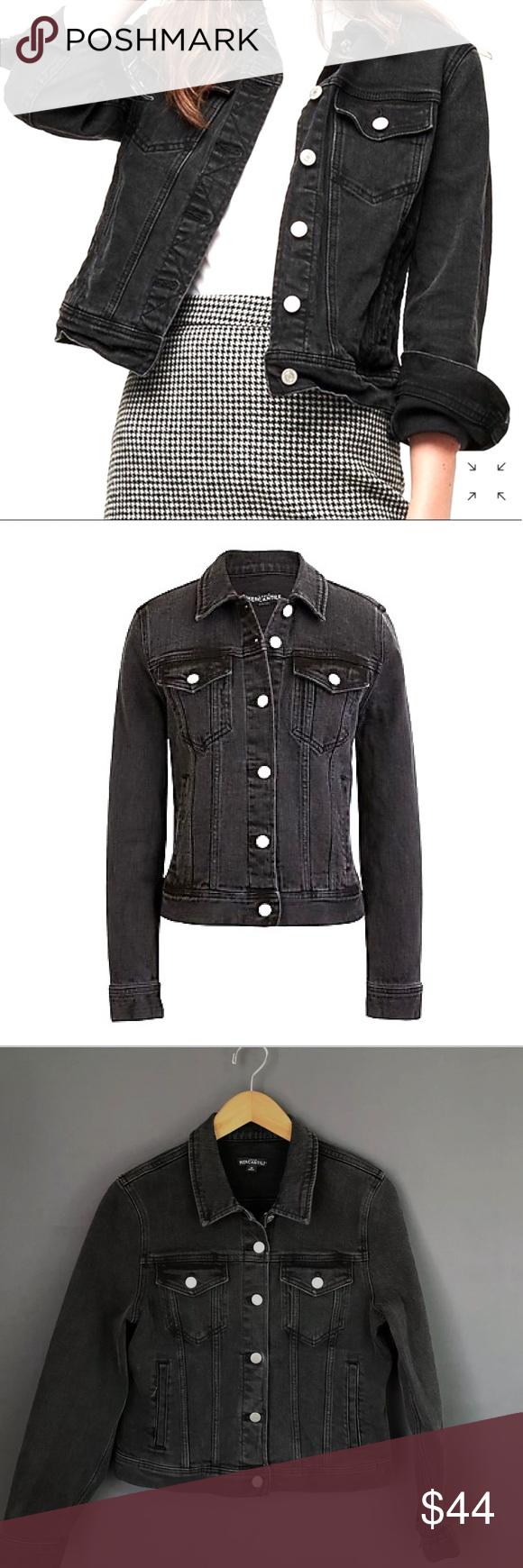 J Crew Mercantile Black Denim Jacket Black Denim Jacket Denim Jacket Black Denim [ 1740 x 580 Pixel ]