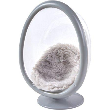 My Life As Mini Egg Chair With Faux Fur Cushion Gray For 7 Dolls Walmart Com Egg Chair Diy Chair Fluffy Chair