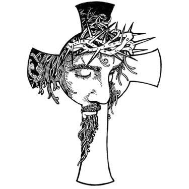 61f790f8c Black Jesus Tattoo Design   Religious   Jesus tattoo, Cross tattoo ...