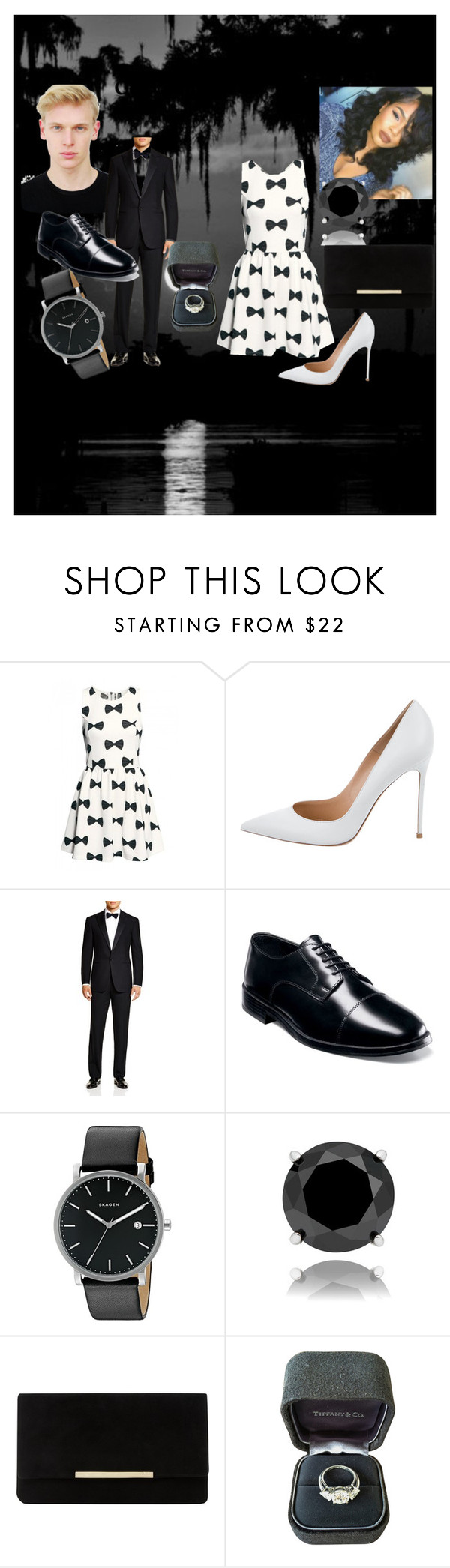 """Say Yes ?"" by myluluann on Polyvore featuring Gianvito Rossi, Ralph Lauren, Nunn Bush, Skagen, Finesque, Dune and Tiffany & Co."