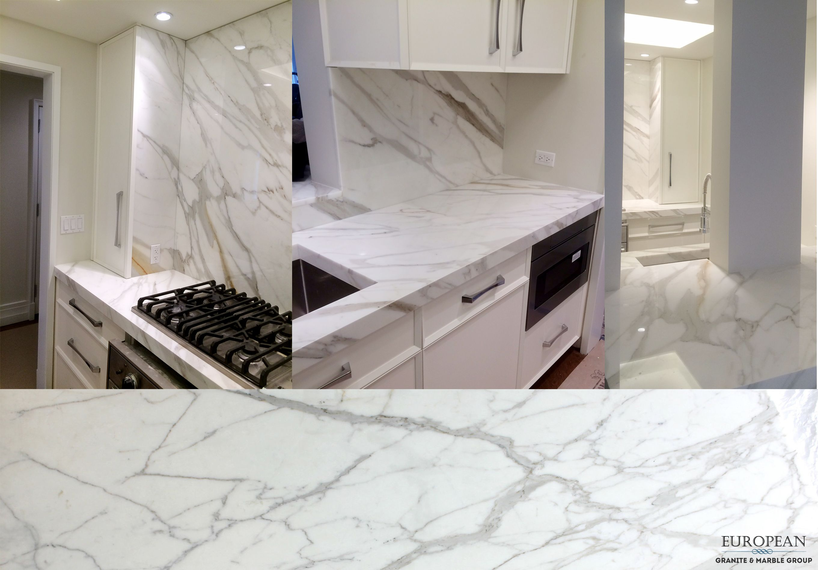 Featured In This Kitchen Mitered Edge Countertop And Backsplash