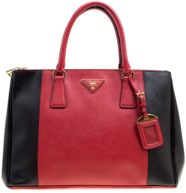 Prada Double Red Leather Handbag Prada Handbags Handbag Buy Bags Designer Fashion