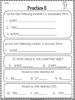 3rd Grade Math Review Math Review 3rd Grade Math Math Fact Worksheets