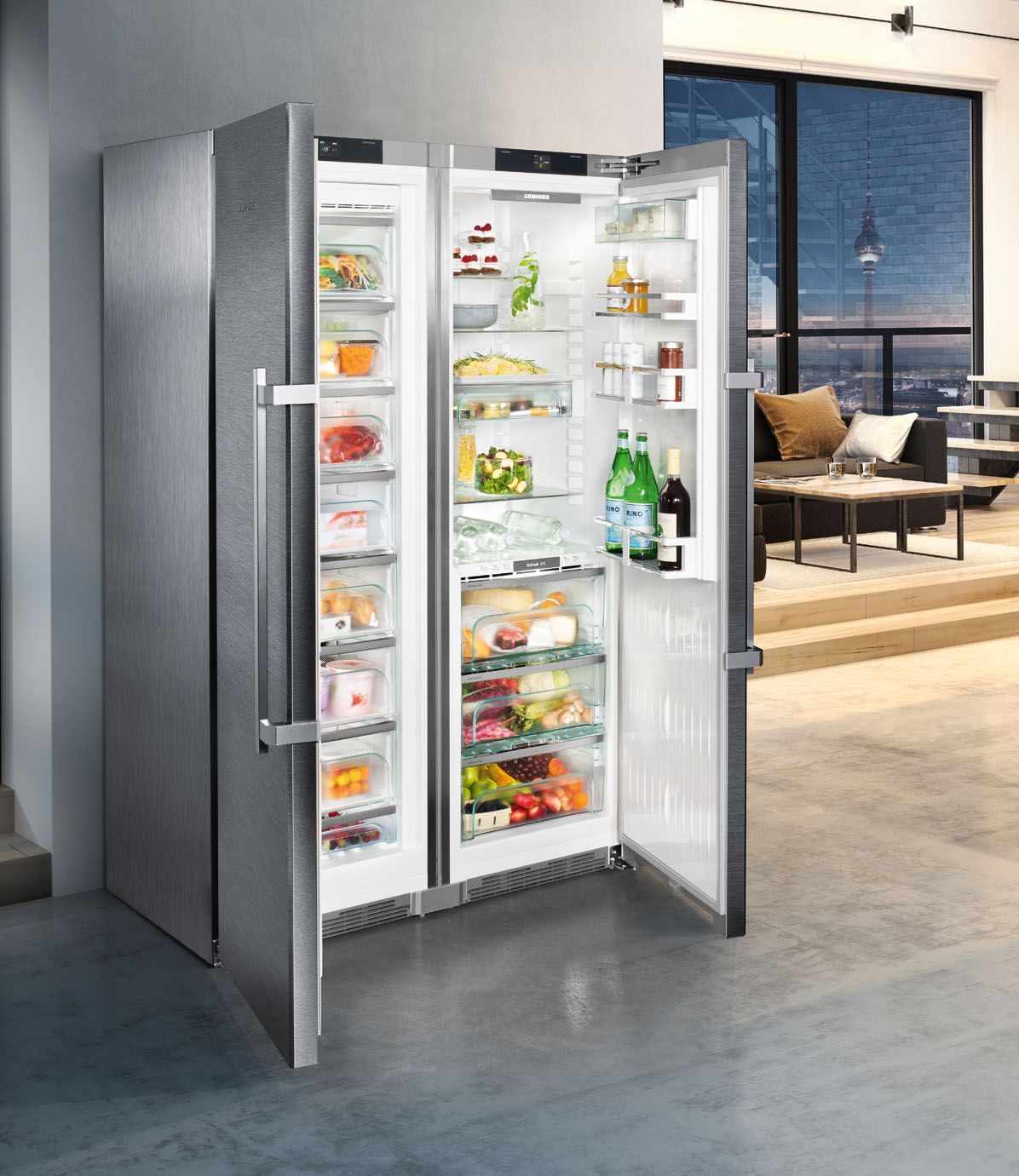 Sbses 8663 Premium Biofresh Nofrost From Liebherr Offers Even More Interior Capacity For Food Storage Economy And Energy Efficiency Quiet Operati Dom Dlya Doma