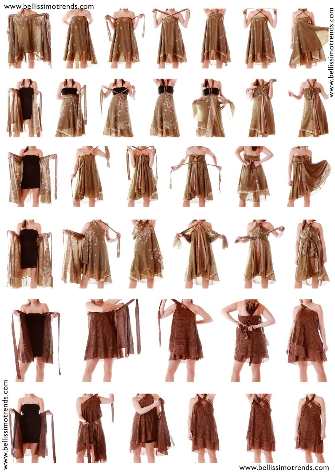 jupe Sarong polyvalente transformables | Couture: modèles ...