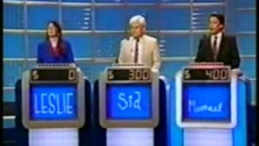Jeopardy! Leslie-Sid-Michael 10-13-1992 Part 1 of 4