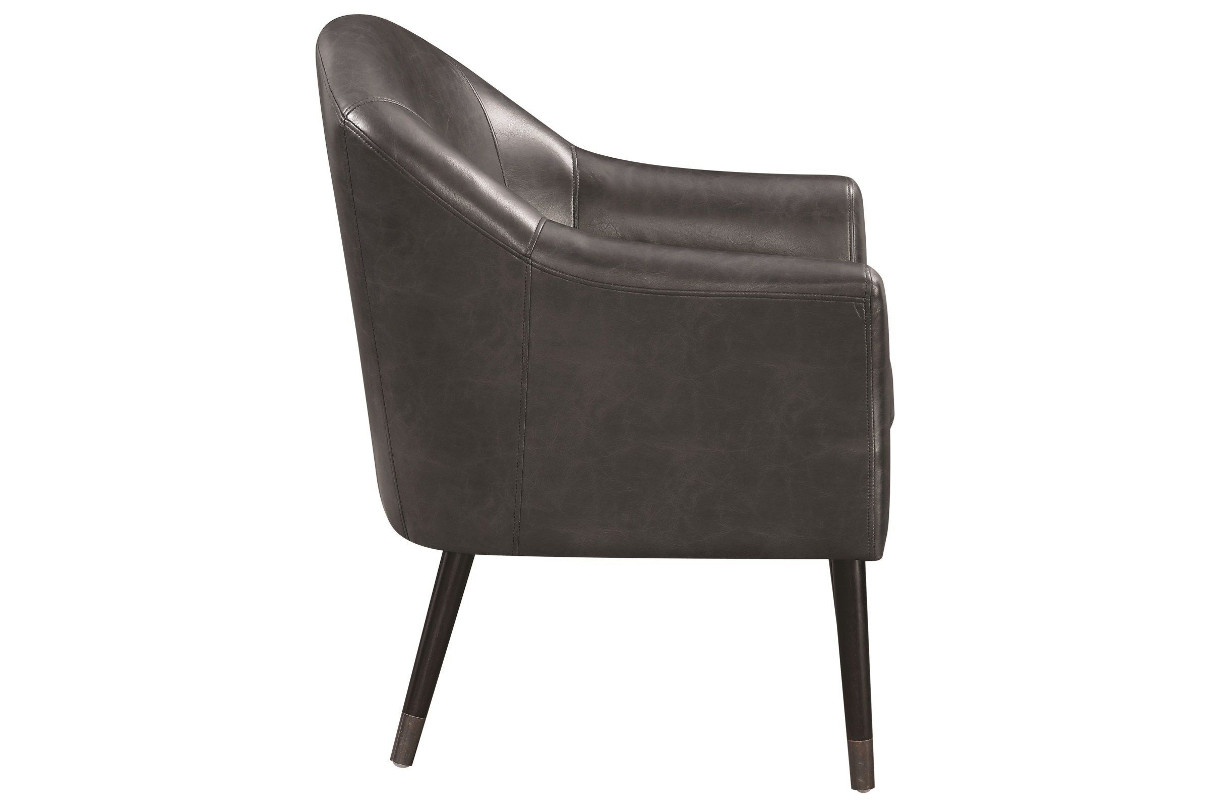 Modrest Cavill Modern Black Leatherette Dining Chair Dining