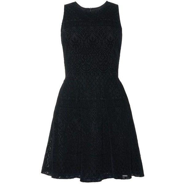 Superdry Flocked Velvet Skater Dress ( 87) ❤ liked on Polyvore featuring  dresses a3ba5fdd9
