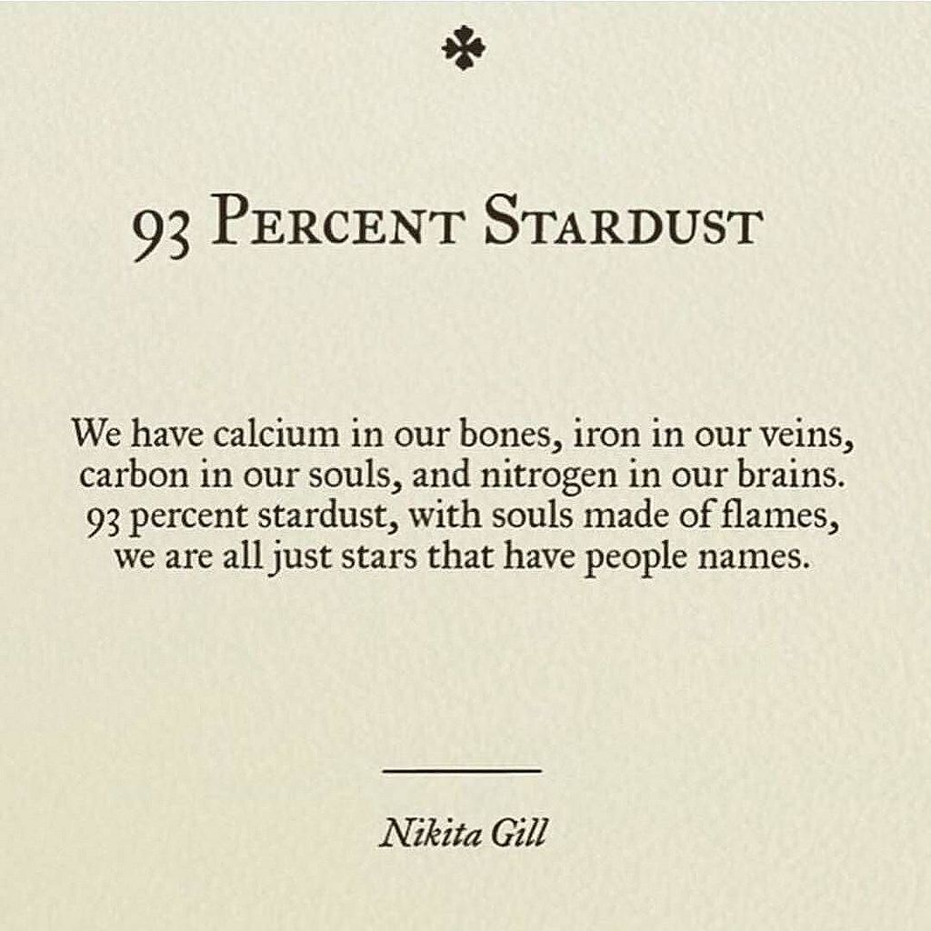 😊these posts make me all fuzzy inside❤ thanks for the tag @marzzzipan #youknowmewell #poems #quotes #love #stars #stardust #science #chemistry #fuzzyfeeling #happiness #bigpicture by jessbones17 http://ift.tt/1Rw16Qy