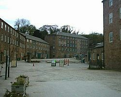 Richard Arkwrights famous cotton mills at Cromford in Derbyshire.